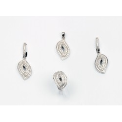 Conjunto plata lagrima circonitas