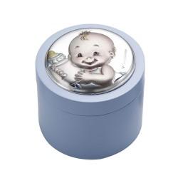 Caja bebe plata azul