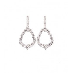 Pendientes oro blanco brillantes 0.65ct