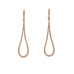 Pendientes Novia Oro Rosa Brillantes Brown 0.76ct