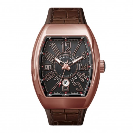 Reloj FRANK MULLER Vanguard 45 Autom. Calendario Esfera Negra Oro