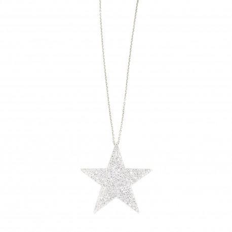 Colgante plata estrella circonitas