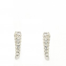 Pendientes Oro Blanco Brillantes 0,31 ct