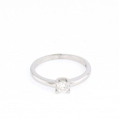 Solitario oro blanco y brillante de 0.30 ct de diamante